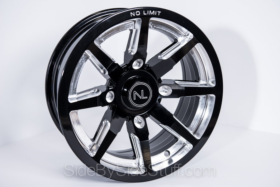 No Limit Wheels - Octane - Black with positive style.