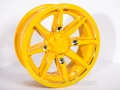 No Limit Wheels - Octane - Yellow with tracer style.