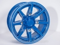 No Limit Wheels - Octane - Blue with tracer style and line edge.