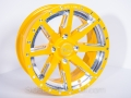 No Limit Wheels - Octane - Yellow with positive style and bullet edge.