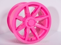No Limit Wheels - Octane - Pink powder coat.