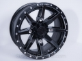 No Limit Wheels - Octane - Black with tracer style and bullet edge.