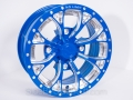 No Limit Wheels - Venom - Blue with positive style and bullet edge.