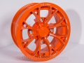 No Limit Wheels - Venom - Orange tracer style.