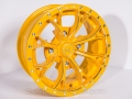 No Limit Wheels - Venom - Yellow with tracer style and bullet edge.