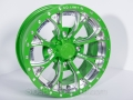 No Limit Wheels - Venom - Green with positive style and bullet edge.
