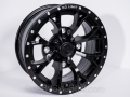 No Limit Wheels - Venom - Black powder coat with bullet edge.