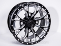 No Limit Wheels - Venom - Black with positive style and bullet edge.