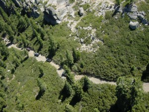 Aerial view of the Rubicon Trail, photo by the Rubicon Trail Foundation