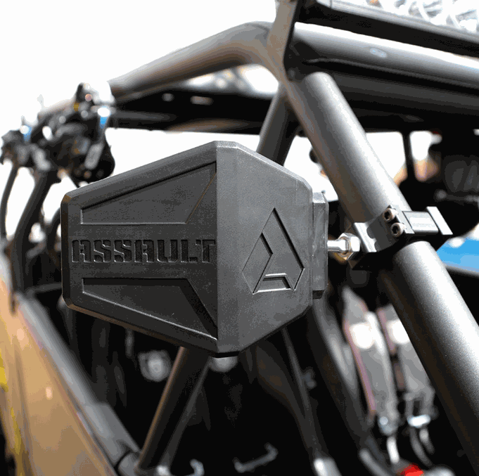 Assault Industries Bomber Breakaway Side View Mirrors (Sold in Pairs)