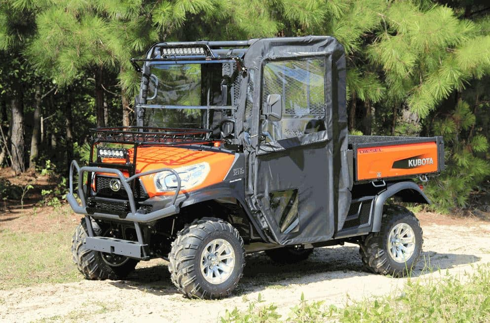 additional protection with kubota rtv doors side by side. Black Bedroom Furniture Sets. Home Design Ideas