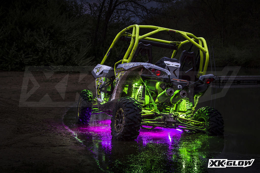 XK-Glow LED Light Kits, Whips and Underglow at SideBySideStuff.com