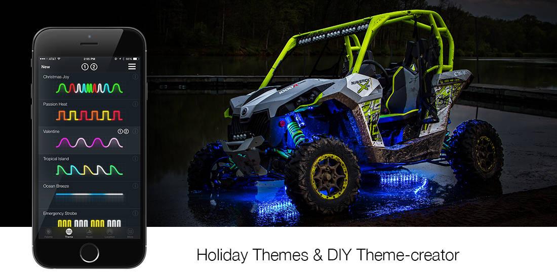 XK-Glow LED Light Kits, Whips and Underglow at SideBySideStuff.com