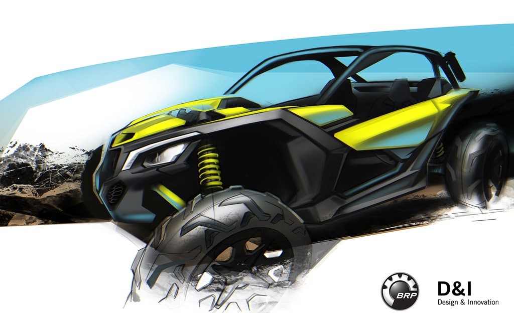 concept rendering of the Maverick X3 done by Alexei Mikhailov of BRP.