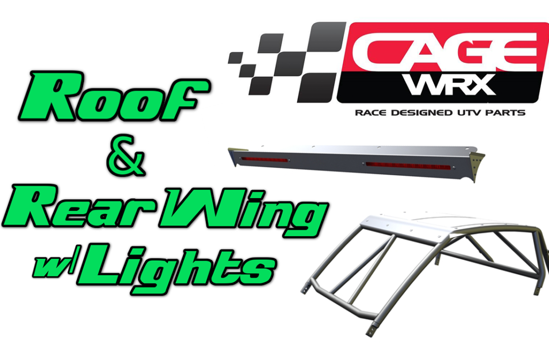 CageWRX UTV Roof and Rear Wing with Lights