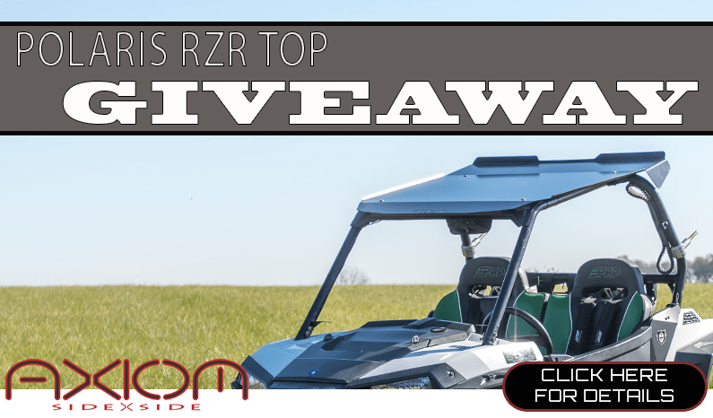 Axiom Side By Side RZR Top Giveaway