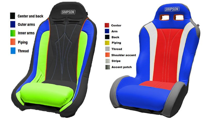 Custom UTV Seats Simpson Performance Products