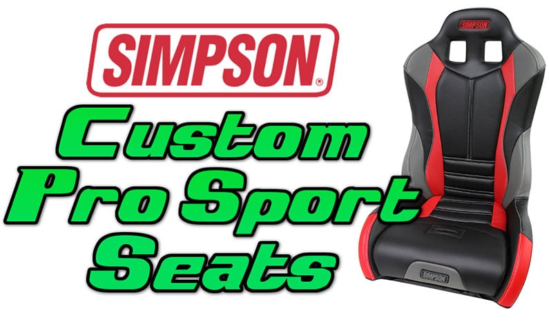 Simpson Custom Pro Sport Seats for UTVs   Side By Sides