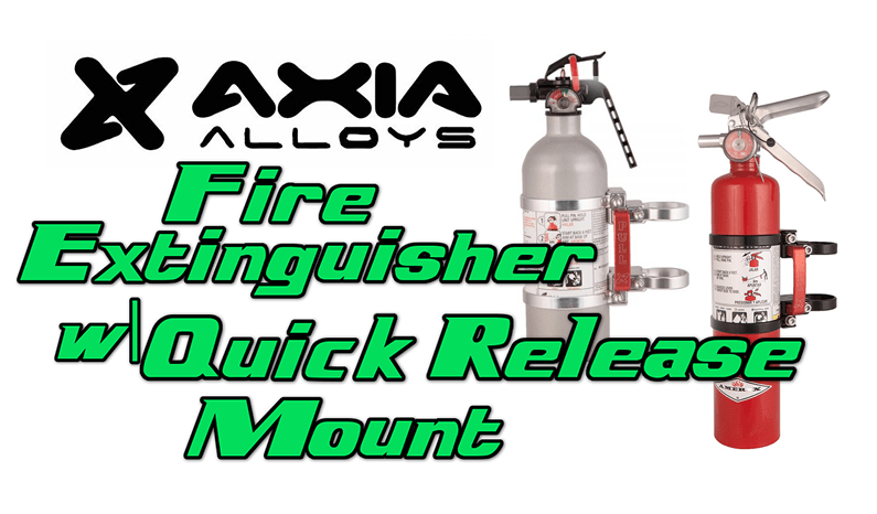 Axia Alloys Fire Extinguisher w| Quick Release Mount