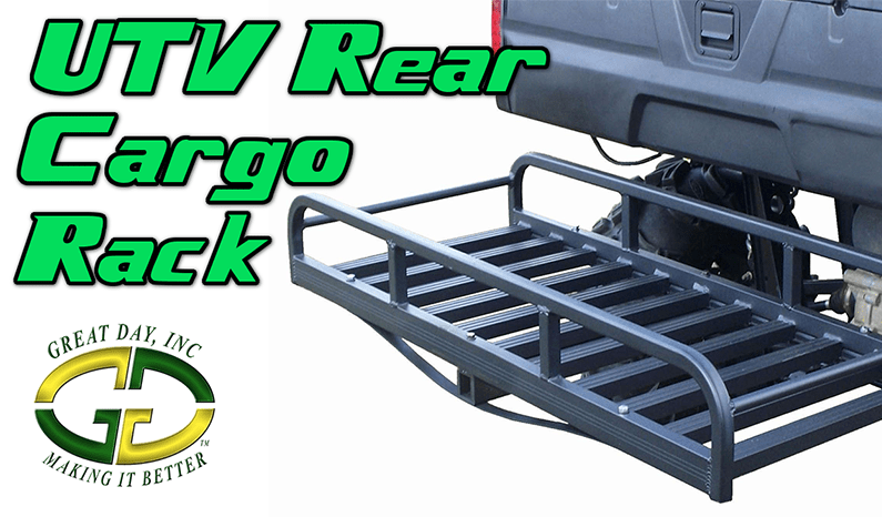 Hitch-N-Ride UTV Rear Cargo Rack by Great Day Inc.
