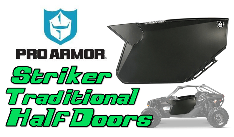 Pro Armor Striker Traditional Half Doors | Can Am Maverick X3