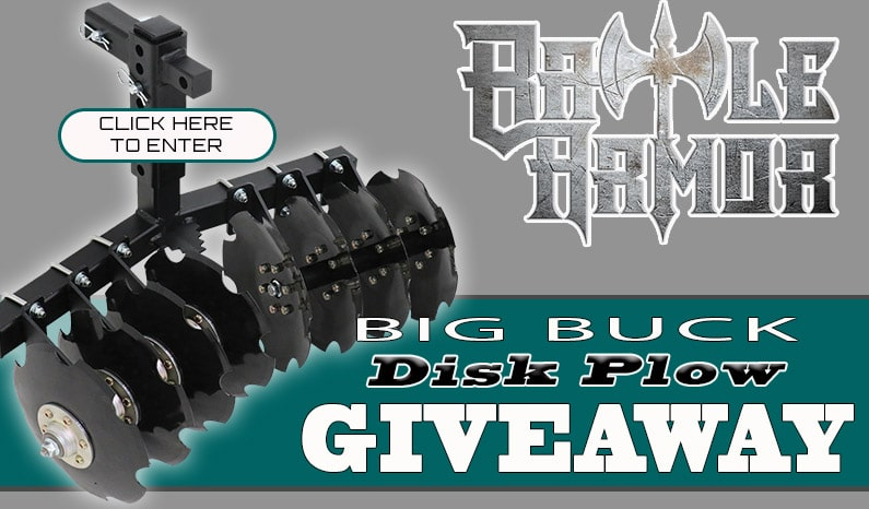 Battle Armor Designs Big Buck 8 Disc Plow Giveaway
