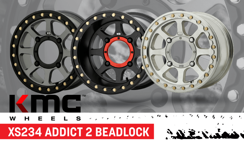 KMC XD XS234 Addict 2 Beadlock Wheels for UTVs | Side By Sides
