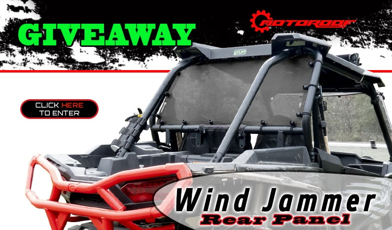 MotoRoof Wind Jammer Rear Panel Giveaway