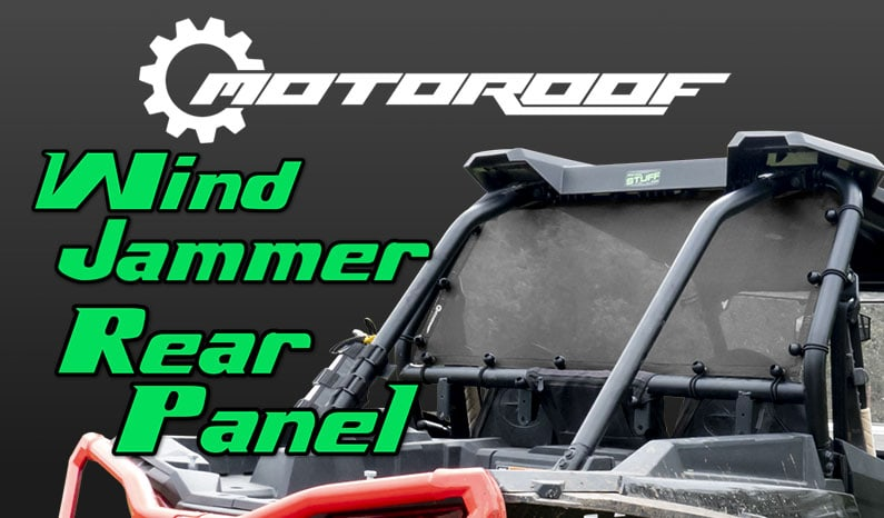 MotoRoof Wind Jammer Rear Panel for UTVs | Side By Sides