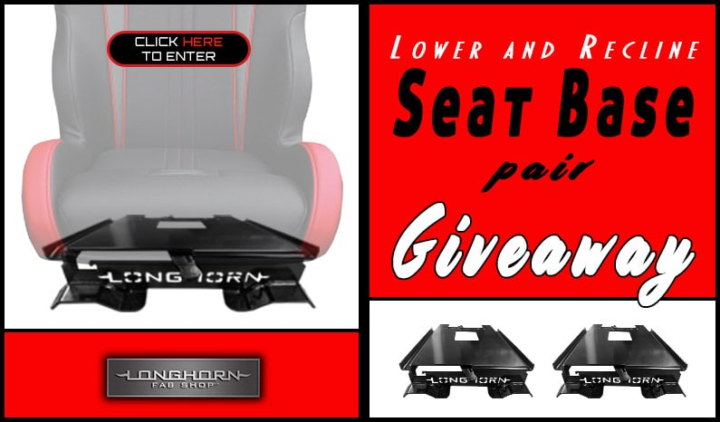 Longhorn Fab Shop Lower & Recline Seat Base Pair Giveaway