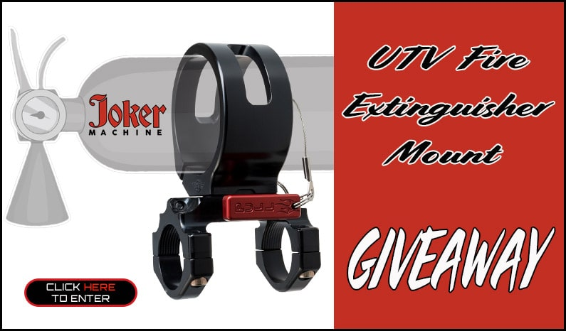 Joker Machine Fire Extinguisher Mount Giveaway