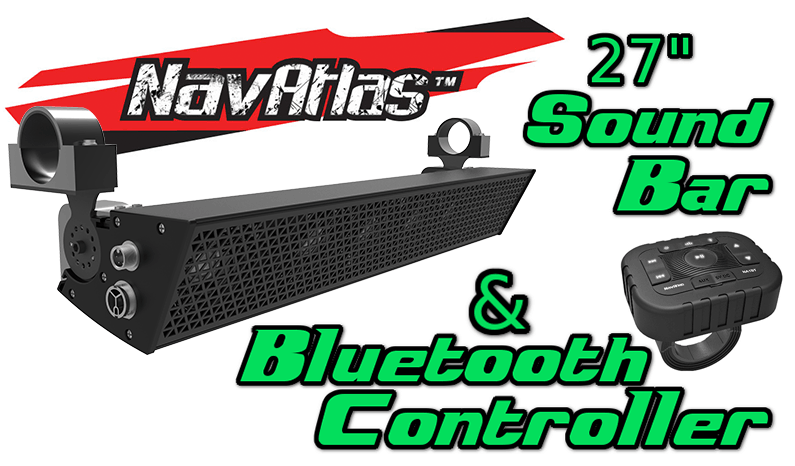 NavAtlas 27 Inch Sound Bar and Bluetooth Controller