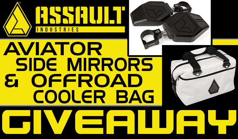 Assault Industries Aviator Side Mirrors & Rugged Offroad Cooler Bag Giveaway