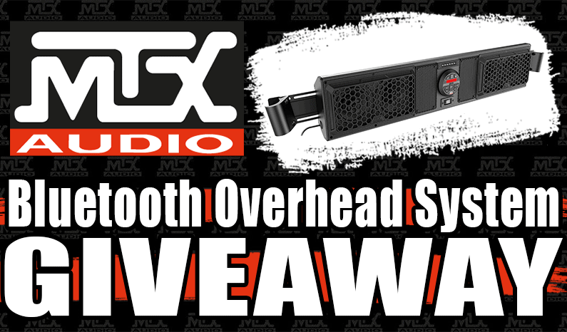MTX Audio Bluetooth Overhead System Giveaway