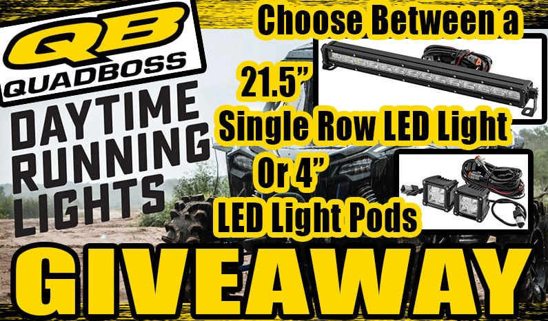 Quad Boss Daytime Running Lights Giveaway