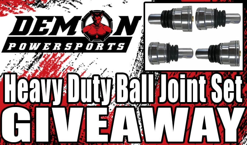 Demon Powersports Heavy Duty Ball Joint Set Giveaway