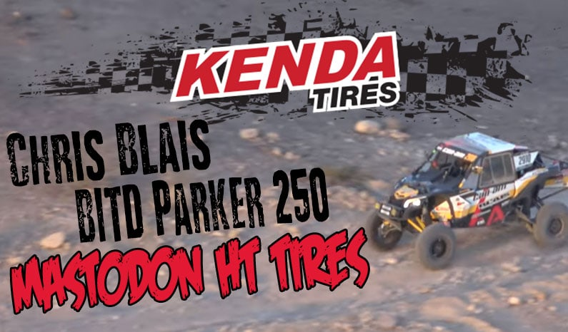 Chris Blais and His Kenda Mastodon HTs Take on the Best in the Desert Parker 250
